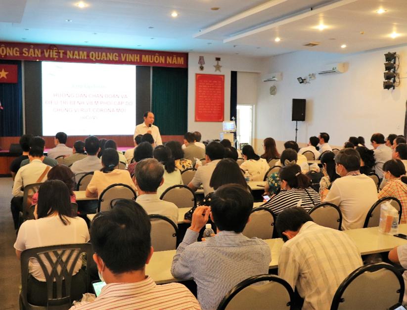 PGS.TS.BS Tăng Chí Thượng – Phó giám đốc Sở Y tế phát biểu khai mạc lớp tập huấn